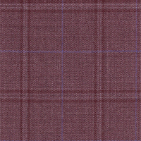 Brick Red 100% Super 140'S Wool Custom Suit Fabric