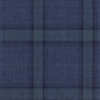 Heather Blue 100% Super 140'S Wool Custom Suit Fabric