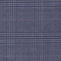 Blue 75% S160's Wool 25% Silk Custom Suit Fabric
