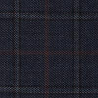 Navy 100% S130s Merino Wool Custom Suit Fabric