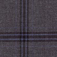 Charcoal 100% Super 200S Wor Sapphire Custom Suit Fabric