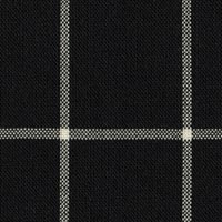Black 100% Super 100'S Wool Worsted Custom Suit Fabric