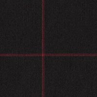 Black 80% S100s Worsted 20% Mohair Custom Suit Fabric