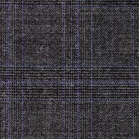 Char Blue 100% Super 120'S Worsted Custom Suit Fabric