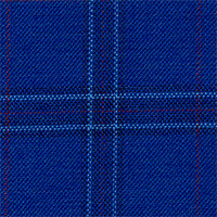 Blue 100% Super 140'S Wool Custom Suit Fabric