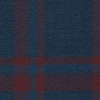 Blue 100% Super 130'S Wool Worsted Custom Suit Fabric
