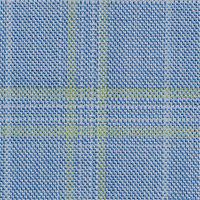Light Blue 100% Super 100'S Wool Custom Suit Fabric