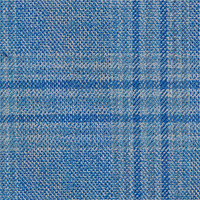 Sky Blue 100% Super 140'S Wool Custom Suit Fabric