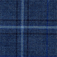 Slate Blue 100% Super 140'S Wool Custom Suit Fabric