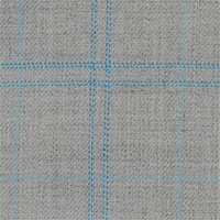 Light Gray 100% Super 140'S Wool Custom Suit Fabric