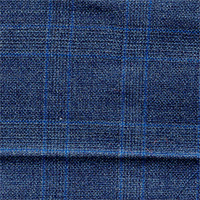 Dark Blue 100% Super 150'S Wool Custom Suit Fabric
