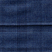 Char Blue 100% Super 150'S Wool Custom Suit Fabric