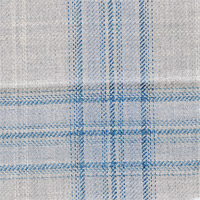 Gray&Blue 100% Super 130'S Wool Custom Suit Fabric