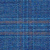 Blue 100% Bamboo Custom Suit Fabric