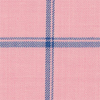 Pink 100% Super 140'S Wool Custom Suit Fabric
