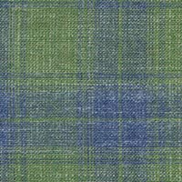 Green Blue 38% S120's Wl 31%Silk 31%Linen Custom Suit Fabric