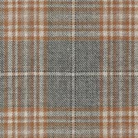 Gray 100% Super 130'S Wool Worsted Custom Suit Fabric