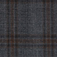 Gray&Brown 100% Super 140'S Wool Custom Suit Fabric