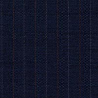 Navy Super 140'S Luxury Worsted Custom Suit Fabric