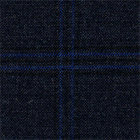 Char Blue 100% Super 180' Wool Custom Suit Fabric