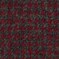 Red/Gray 100% Wool Custom Suit Fabric
