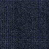 Blue 100% S130s Merino Wool Worsted Custom Suit Fabric