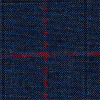 Char Blue 100% Super 100'S Wool Custom Suit Fabric