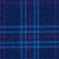 Blue 100% Super 120'S Wool Custom Suit Fabric