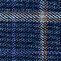 Blue 80% Wool 20% Silk Custom Suit Fabric