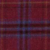 Red 100% Super 120'S Wool Custom Suit Fabric