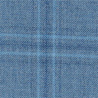Light Blue 100% Super 140'S Wool Custom Suit Fabric
