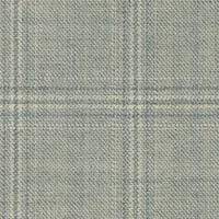 Silver 99% S100's Worsted 1% Cashmere Custom Suit Fabric