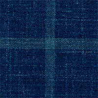 Blue 60% Wool 20% Silk 20% Flax Custom Suit Fabric