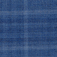 Blue 95% Wool 5% Silk Custom Suit Fabric