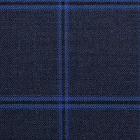Dark Navy 100% Super 120'S Wool Custom Suit Fabric