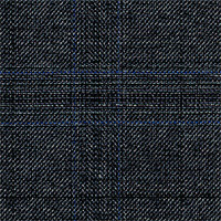 Char Gray 100% Super 120'S Wool Custom Suit Fabric