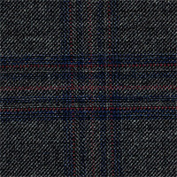 Charcoal 100% Super 120'S Wool Custom Suit Fabric