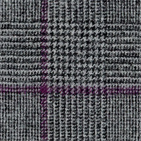 Dark Gray&Purple Super 180'S Lt. Touch Flannel Custom Suit Fabric