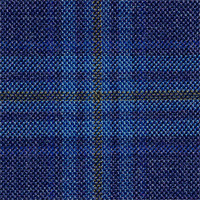 Indigo 100% Super 100'S Wool Custom Suit Fabric