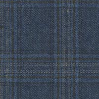 Blue 95% Super 130'S 5% Cashmere Custom Suit Fabric