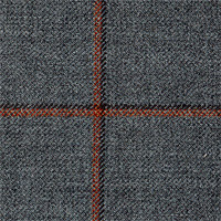 Gray 100% Superfine Wool Custom Suit Fabric