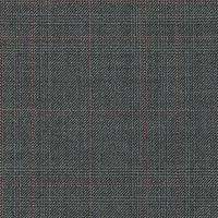 Gray&Red 100% Super 180S Worsted Custom Suit Fabric