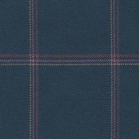 Blue 100% Super 180'S Worsted Custom Suit Fabric