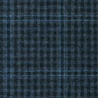 Blue Gray 95% S130s Worsted 5% Cashmere Custom Suit Fabric
