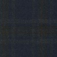Navy&Brown 95% S130s Worsted 5% Cashmere Custom Suit Fabric