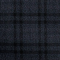 Black&Blue 75% Wool 25% Silk Custom Suit Fabric
