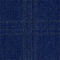Char Blue 100% Wool Custom Suit Fabric