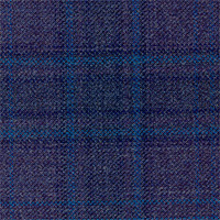 Purple 100% Super 130'S Wool Custom Suit Fabric