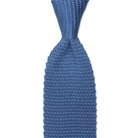 BLUE WOVEN KNIT