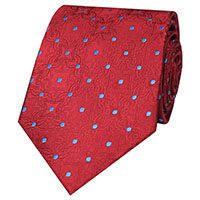 WOVEN DOT 100 SILK   RED